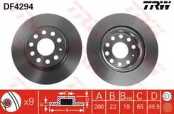 Диск тормозной передний SKODA OCTAVIA (1Z_), VW GOLF V-VI, JETTA III DF4294