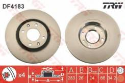Диск тормозной передний CITROEN C4 I-II, PEUGEOT 207, 307, 308 DF4183