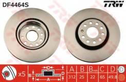 Диск тормозной передний VW PASSAT (3C_, 36_), SKODA OCTAVIA (5E_) DF4464S