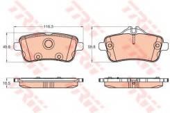 Колодки задние MERCEDES X166, W166 GDB1947