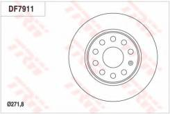 Диск тормозной задний SKODA OCTAVIA (5E), VW GOLF VI-VII (272мм) DF7911