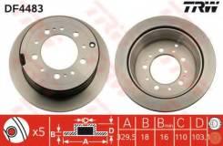 Диск тормозной задний TOYOTA LAND CRUISER 100, LEXUS LX470 (UZJ100) DF4483