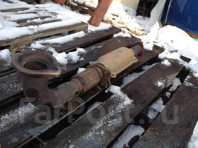 Приемная часть глушителя с катализатором от Honda Accord Wagon CM2. Honda Accord, CM2 Двигатель K24A
