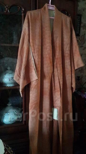 Японское кимоно из натурального шелка, настоящее. 40-48, 46, 48, 50, 52