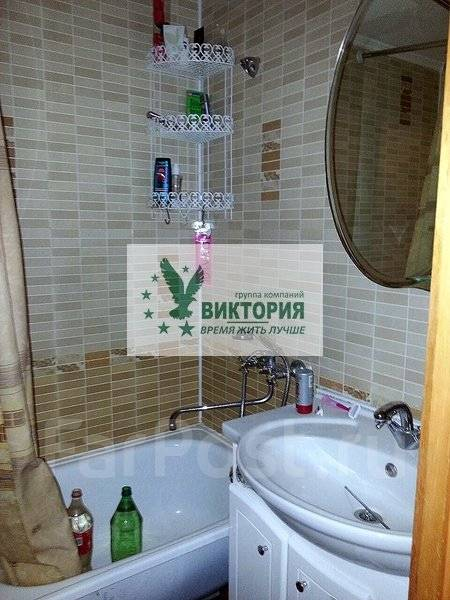 3-комнатная, улица Кирова 25. центр, агентство, 60 кв.м. Ванная