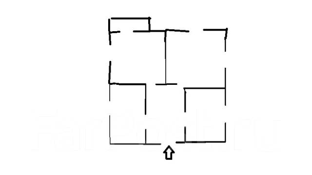 3-комнатная, улица Станюковича 77а. Эгершельд, частное лицо, 40 кв.м. План квартиры