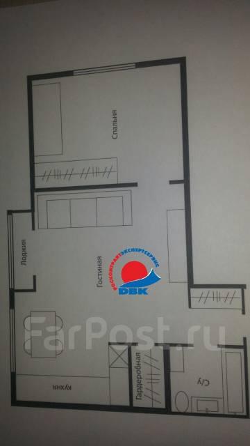 2-комнатная, улица Кирова 49. Вторая речка, агентство, 44 кв.м. План квартиры