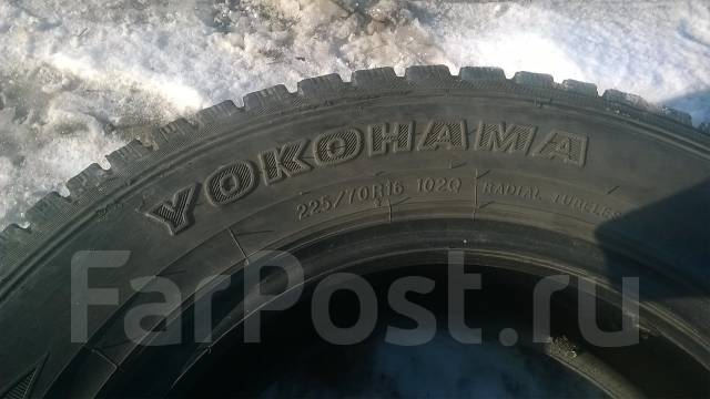 Yokohama Geolandar I/T G072. Зимние, без шипов, 2008 год, износ: 20%, 3 шт
