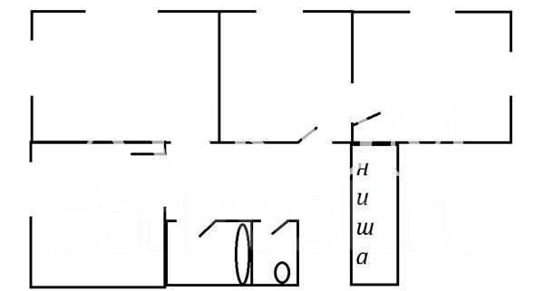 3-комнатная, улица Сафонова 3. Борисенко, агентство, 64 кв.м. План квартиры