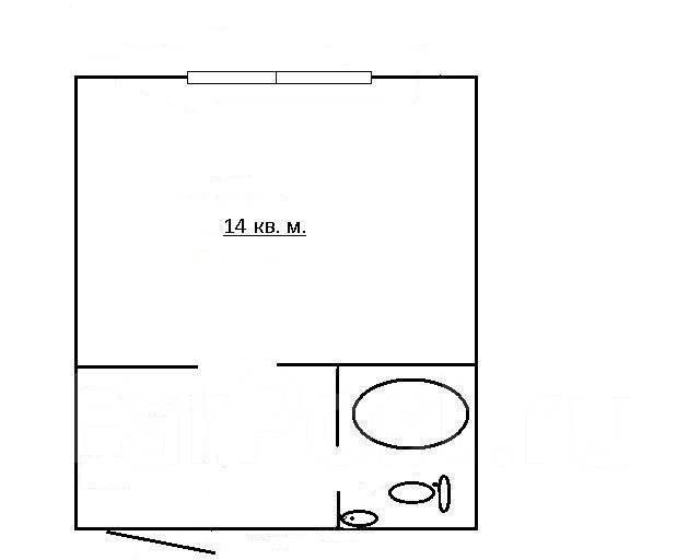 Комната, улица Русская 61. Вторая речка, частное лицо, 12 кв.м. План квартиры