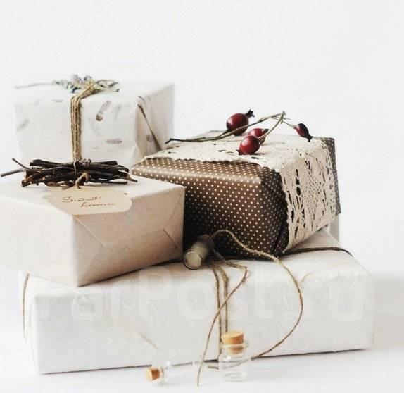Корпоративные подарки коллегам к Новому году. Упаковка подарков