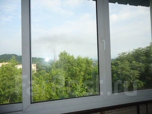 1-комнатная, улица Михайловская (пос. Заводской) 8. Заводской., агентство, 36 кв.м. Вид из окна днем