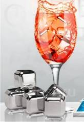 """Кубики """"Стальной лед"""" для охлаждения напитков - 6 шт"""
