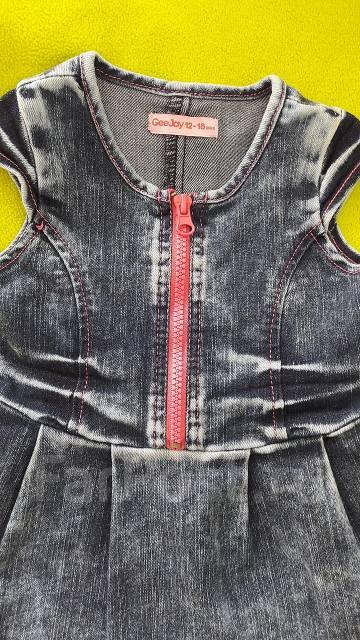 Сарафаны джинсовые. Рост: 80-86, 86-98 см