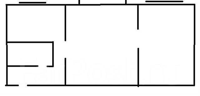 2-комнатная, улица Кутузова 8. Вторая речка, агентство, 46 кв.м. План квартиры