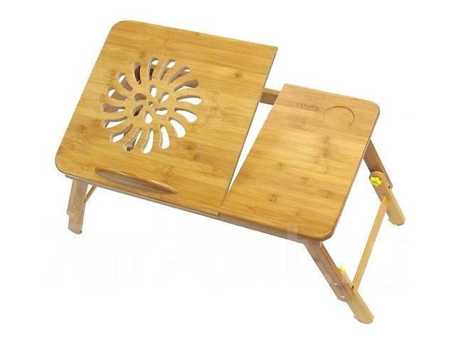 Стол из бамбука для ноутбука Jengcool-17 Без вентиляции 55х35см