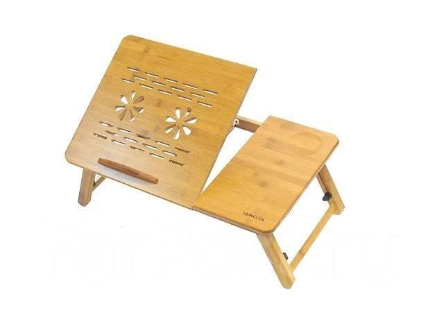 Бамбуковый столик для ноутбука Suncool (L3). Без вентиляции 55х35см