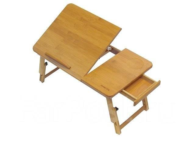 Столик из бамбука для ноутбука Suncool (L13). Без вентиляции 55х35см