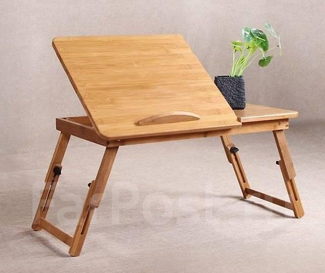Suncool S13 бамбуковый столик для ноутбука. Без вентиляции 50х30см