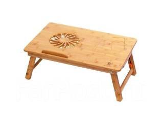 """Стол бамбуковый для ноутбука """"Beocup 9F"""" с системой вентиляции"""