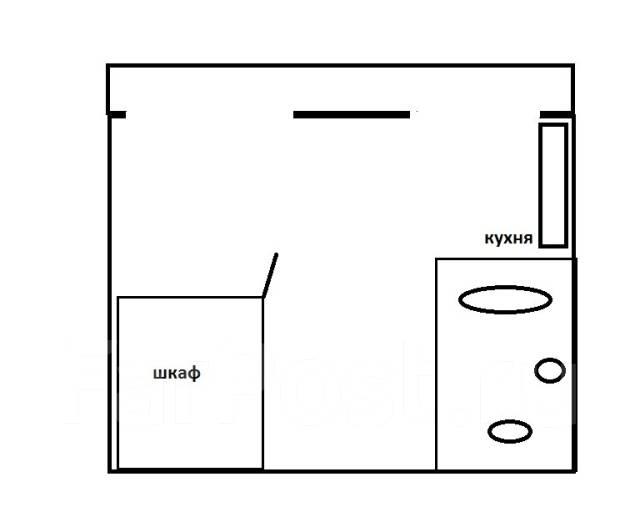 1-комнатная, улица Аллилуева 12а. Третья рабочая, агентство, 37 кв.м. План квартиры