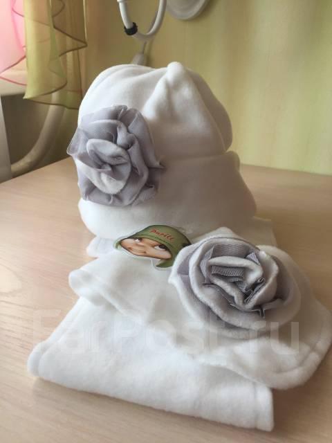 Шапка и шарф. Рост: 104-110, 110-116 см