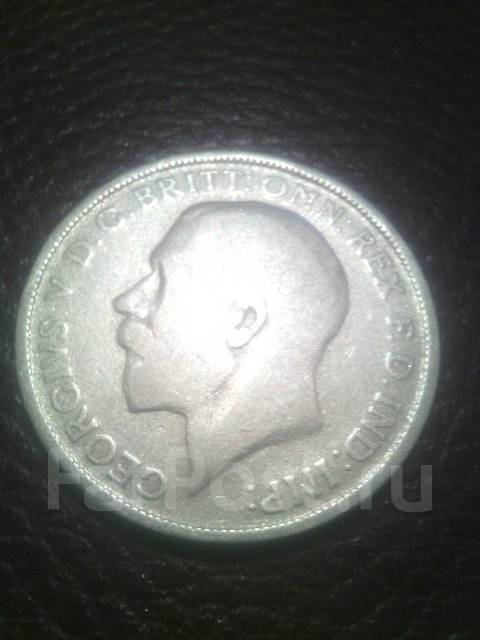 Англия флорин 1920г. Серебро.