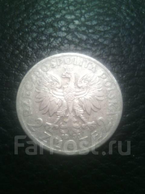 Польша 2 Злотых 1933г. Серебро.