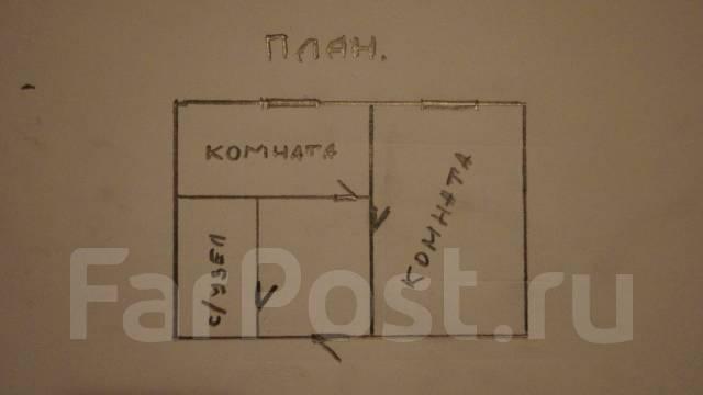 Гостинка, улица Нахимова 1. Столетие, частное лицо, 25 кв.м. План квартиры