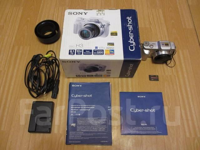Sony Cyber-shot DSC-H3. 8 - 8.9 Мп, зум: 10х
