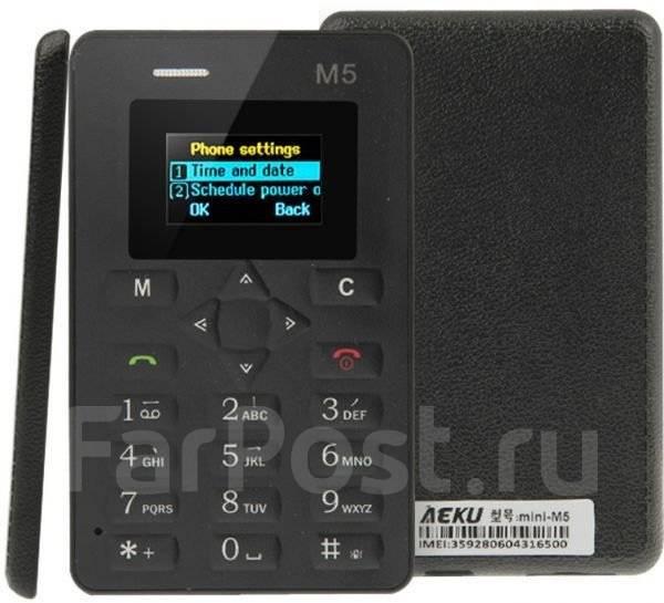 Ультратонкий телефон - кредитная карта AEKU M5. Новый