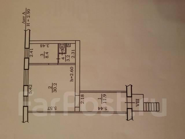 Нежилое помещение напротив ц. рынка, 55 кв. м. Улица Кирова 16, р-н Ц. рынка., 55 кв.м. План помещения
