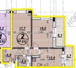 2-комнатная, улица Ленина 136. Ореховая роща, агентство, 69 кв.м.