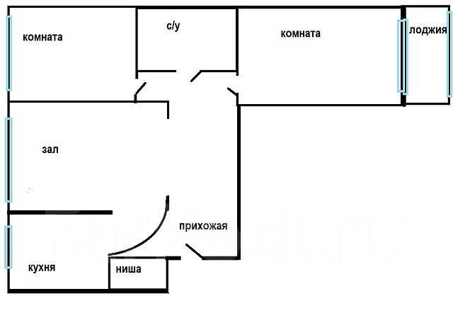 3-комнатная, улица Связи 5. Трудовая, проверенное агентство, 67 кв.м. План квартиры