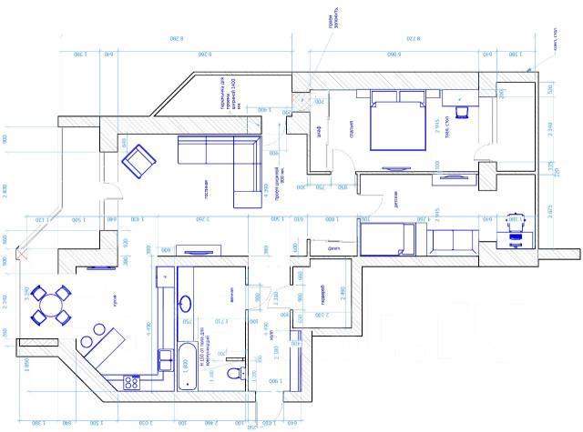 3-комнатная, улица Францева 28. Междуречье, частное лицо, 125 кв.м. План квартиры