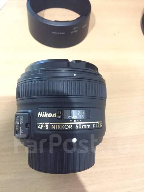 Продам объектив nikon 50mm F1,8G. Для Nikon, диаметр фильтра 58 мм