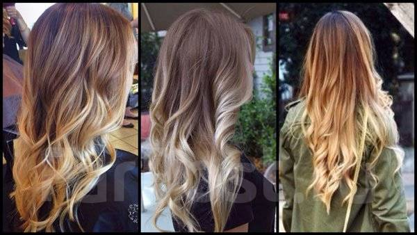 Окрашивание волос, растяжка цвета, балаяж, шатуш.