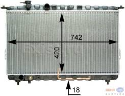 Радиатор охлаждения двигателя. Hyundai Grandeur Hyundai Sonata