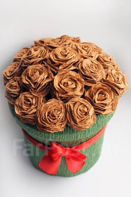 Розы, Шляпные коробки, подарок. Под заказ
