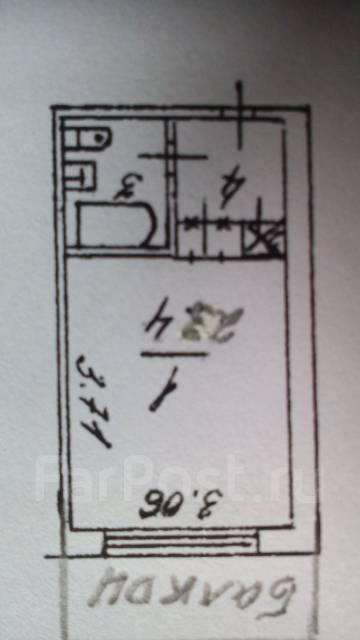 Гостинка, улица Кирова 59. 19 шк., агентство, 23 кв.м. План квартиры
