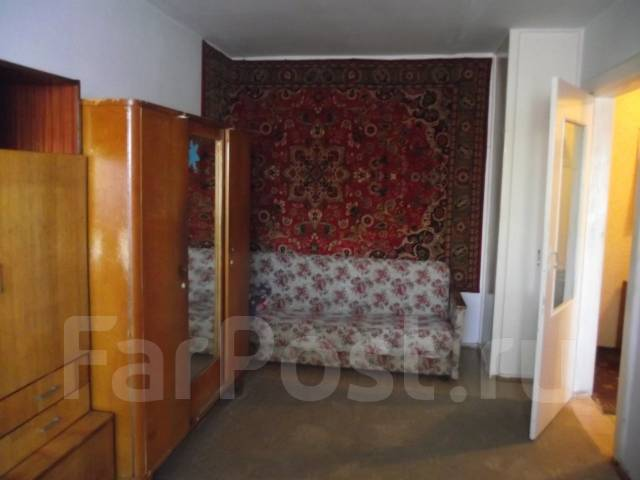 1-комнатная, улица Брюллова 2. Седанка, агентство, 33 кв.м. Комната