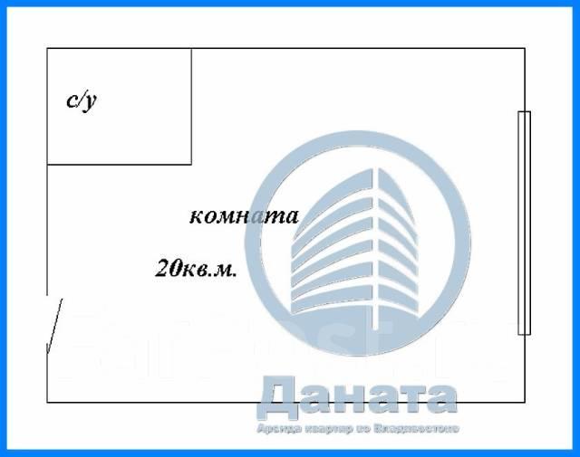 Гостинка, улица Черемуховая 14. Чуркин, агентство, 20 кв.м. План квартиры