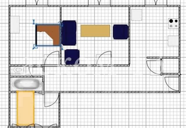 3-комнатная, улица Шилкинская 15. Третья рабочая, агентство, 72 кв.м. План квартиры