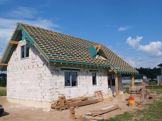 Строительство из газобетона.