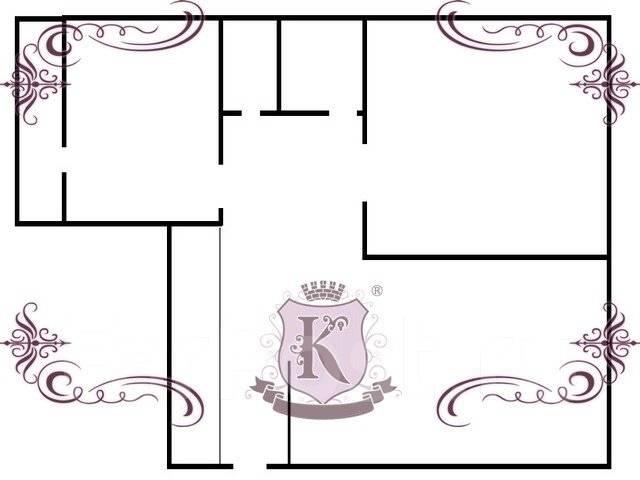 3-комнатная, улица Ватутина 4а. 64, 71 микрорайоны, агентство, 62 кв.м. План квартиры