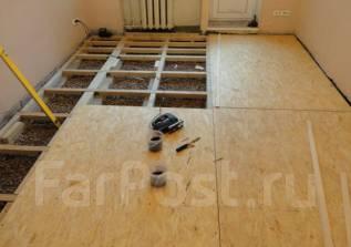 Монтаж, ремонт деревянных полов. Ламинат, керамогранит, плитка ПВХ