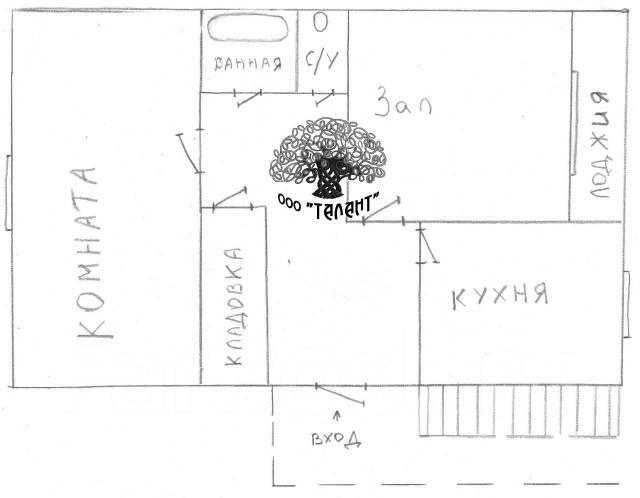 Комната, улица Рабочая 1-я 29. Поворот - Угловое, агентство, 18 кв.м. План квартиры