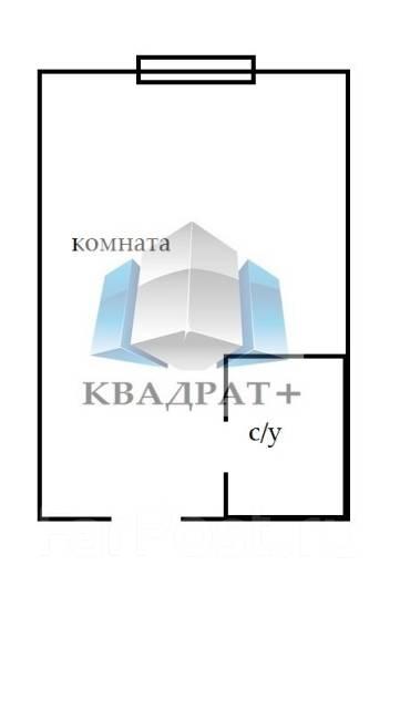 Гостинка, улица Окатовая 16. Чуркин, агентство, 24 кв.м. План квартиры