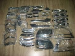 Накладки (комплект) хром, по кузову Toyota Land Cruiser Prado150