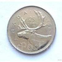 Канада 25 центов 1978 (иностранные монеты)